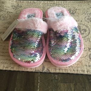 Mermaid Sequin Kids Slippers